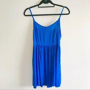 Casual Cotton Strappy V Neck Flowy Cami Mini Dress